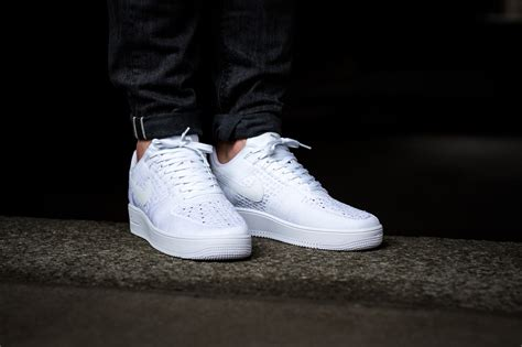 Nike Air 1 Flyknit Low White another clean finish on the nike air 1 ultra flyknit