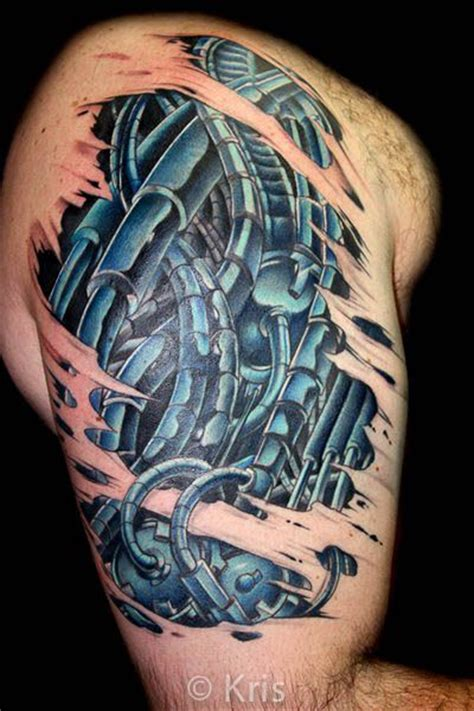 11 best images about bio mechanical tattoos on pinterest