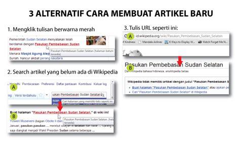 membuat artikel wikipedia wikipedia artikel pertama anda wikipedia bahasa