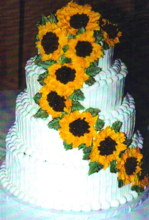 Sunflower Wedding Cakes Pictures