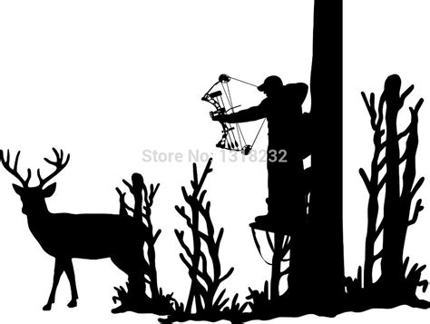 deer and turkey hunter vinyl wall art decal by popular deer bow buy cheap deer bow lots from china deer
