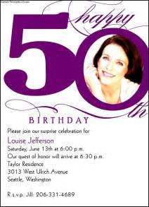 sample 50th birthday invitation sample templates