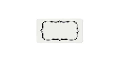 design white label calligraphy frame border off white label template zazzle