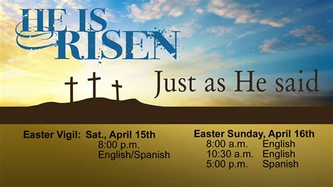 easter sunday mass easter sunday mass schedule church of the nativity