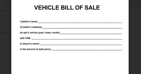 auto sales forms templates