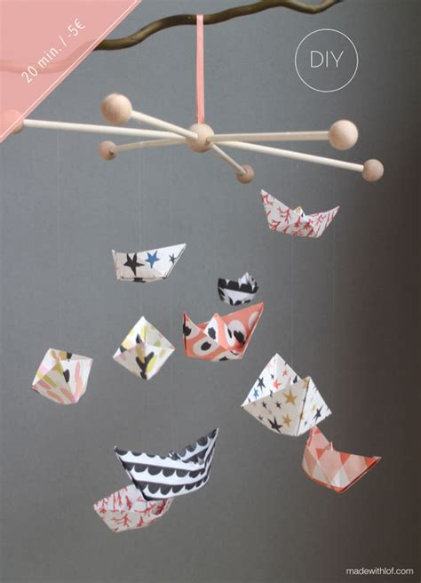 How To Make Paper Mobile - 35 adorable and stylish diy baby mobiles