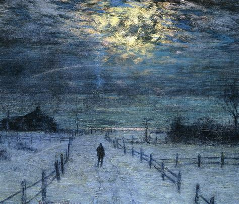 Home Decor Painting by A Wintry Walk Painting By Lowell Birge Harrison