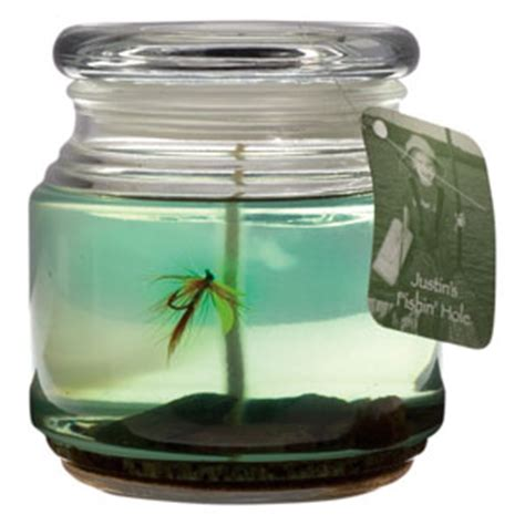 country fishing candle fly fishing 16 oz rustic