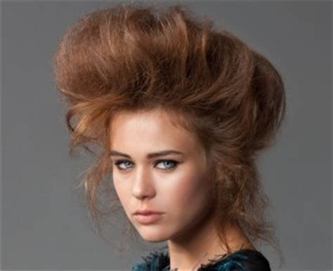 hair styles combed how to create and updo with crimping and backcombing