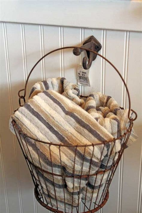 basket for towels in bathroom decorating the guest bath tidbits twine