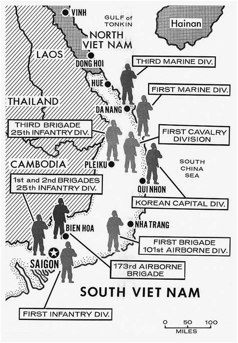 Map Showing Divisions in the Vietnam War | Old Saigon and