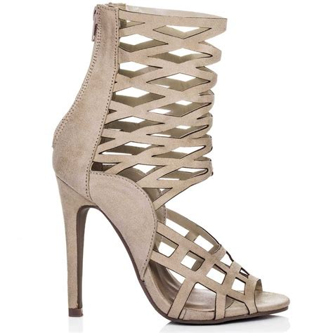 high heel cage sandals spylovebuy cage sandals shoes at spylovebuy