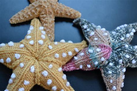 knitted starfish pattern starfish by ginx craft knitting pattern