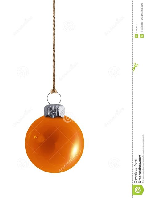 shiny orange christmas bauble royalty free stock