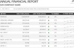 Template For Financial Report by Annual Financial Report Template Helloalive