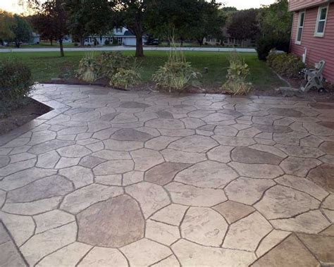 Stamped Patio Designs by Bargains And Deals Patio Designs Stamped Concrete