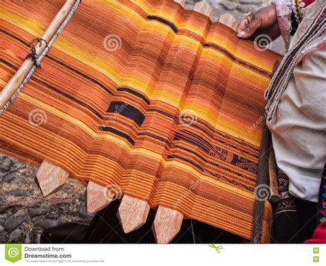 Handcrafted Textiles - inca handmade textile stock photo image 73017545