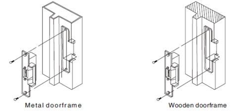 Tag Name Tag Hewan Stainless 1 Sisi 400kg electric strike lock power door lock for swinging