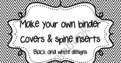 fully editable black  white binder covers  spine