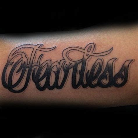 fearless tattoo design 20 fearless designs for powerful word ink ideas