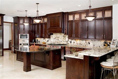 dark kitchen cabinets with light granite countertops 17 best images about dream home countertops on pinterest