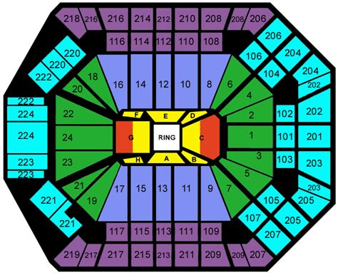 mgm grand seating chart boxing mgm grand garden arena seating chart