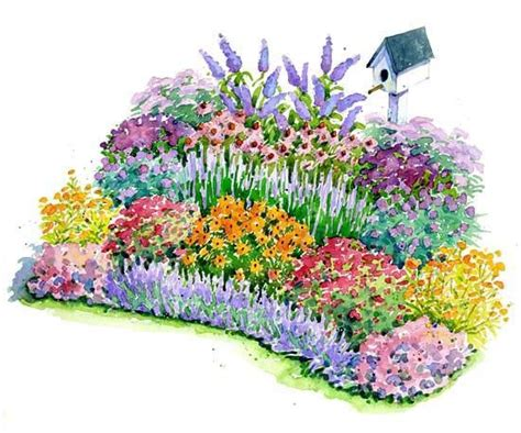 Flower Garden Plans Layout No Fuss Bird And Butterfly Garden Plan Gardens To Be And Beautiful