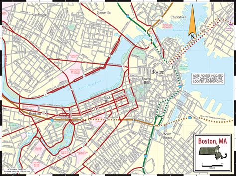 tourist map of boston usa map boston usa city