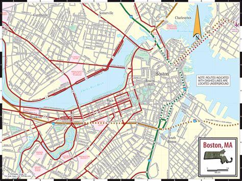boston map boston city map boston ma mappery