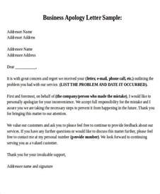 Formal Apology Letter Hotel Formal Apology Letters
