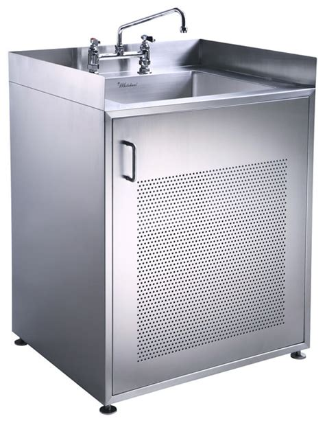 kitchen single sink cupboard stainless steel commercial sink base pearlhaus single door stainless steel sink with cabinet