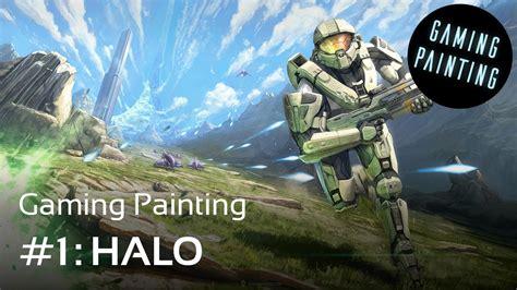 halo fan digital painting halo fan