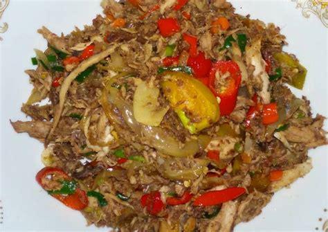 resep tongkol suwir pedas oleh meieka silviana cookpad