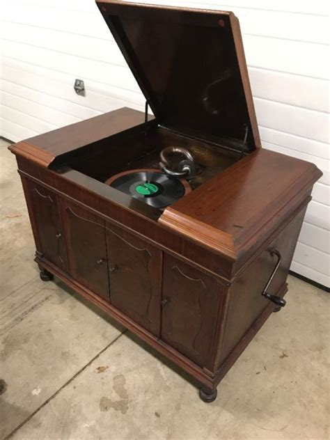 vintage record player cabinet parts brunswick phonograph shop collectibles online daily