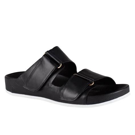 black sandals flat aldo glawet flat sandals in black lyst