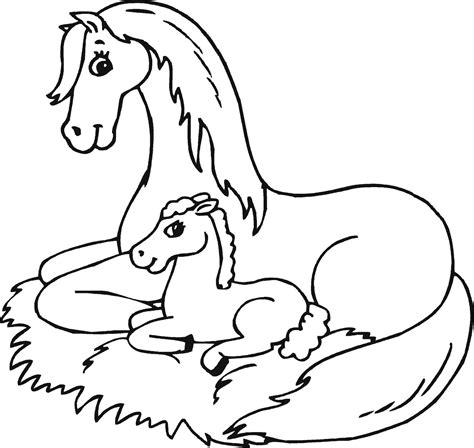 coloring pictures of baby horses mom and baby horse coloring pages online coloring printable