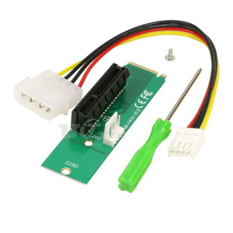 M2 Pcie Pci E To Ngff M 2 M Key Kabel Konverter Molex 4x m2 to pci e 4x slot card adapter ngff m 2 m key to pci express x4 slot converter with