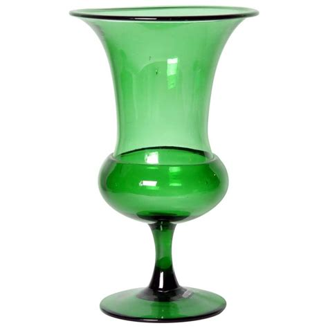 Glass Vase Sale by Green Empoli Glass Vase For Sale At 1stdibs