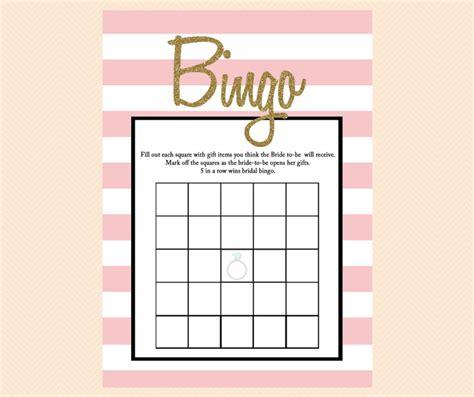 Printable Bridal Shower Gift Cards - pink glitter bridal shower games magical printable