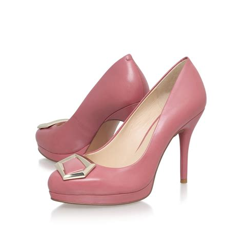 pink high heels shoes nine west keemah high heel embellished court shoes in pink