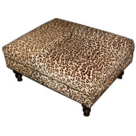 new brown cocktail ottoman footrest modern oversize zebra