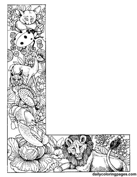 coloring pages animals alphabet letter l lion coloring pages
