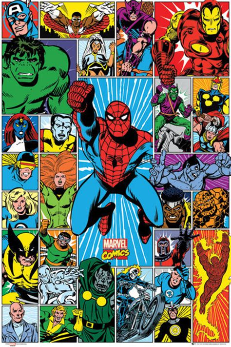 Marvel L by Marvel Grid Poster Sold At Europosters