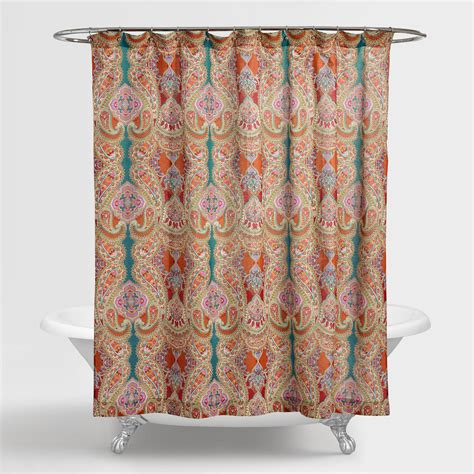 indian shower curtains paisley venice shower curtain world market