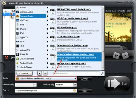 format audio ppt how to convert powerpoint audio to wma format