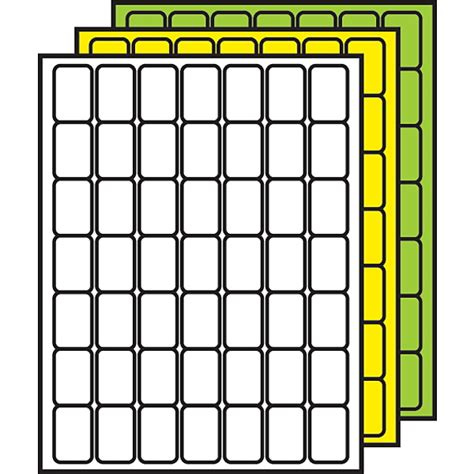 demco 174 colored processing labels 1 1 2 quot x 1 quot rounded