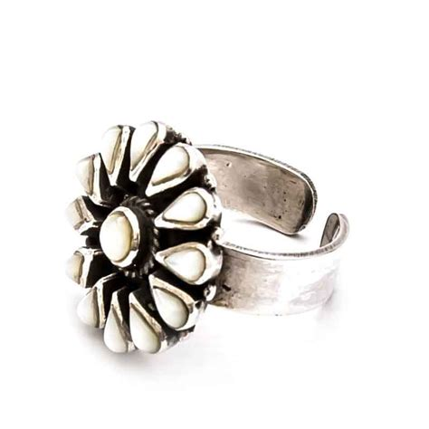 design flower ring flower design silver ring egypt7000