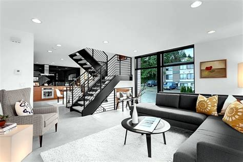 house design inside and out the modern steel staircase inside and outside in the