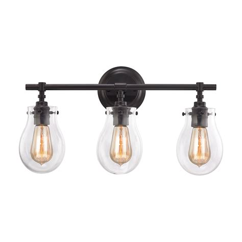 Elk Bathroom Lighting Elk Lighting 31932 3 Vanity Lighting Bronze Tones Jaelyn Collection