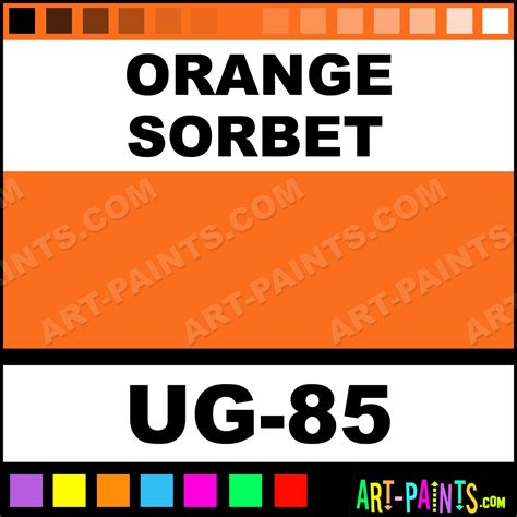 orange sorbet non toxic opaque ceramic paints ug 85 orange sorbet paint orange sorbet color